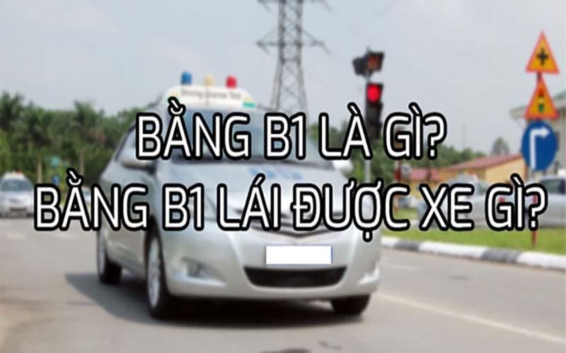 Bằng lái xe ô tô hạng B1 là gì?