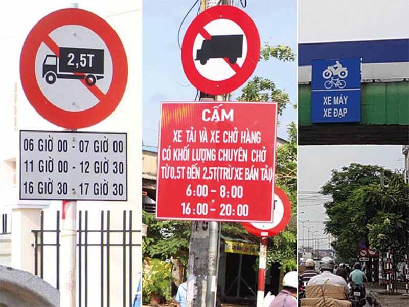 Co các câu hỏi về biển báo giao thông trong sách học bằng lái xe hạng C