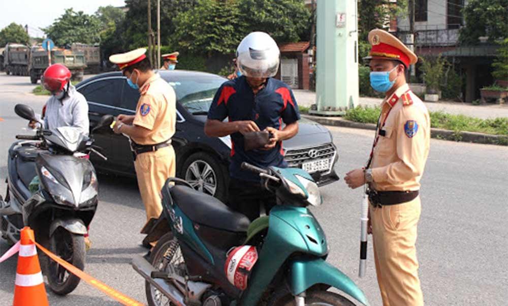 Xử phạt đối với xe máy