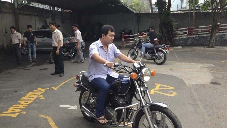 Thi bằng lái xe mô tô A2 giá rẻ HCM