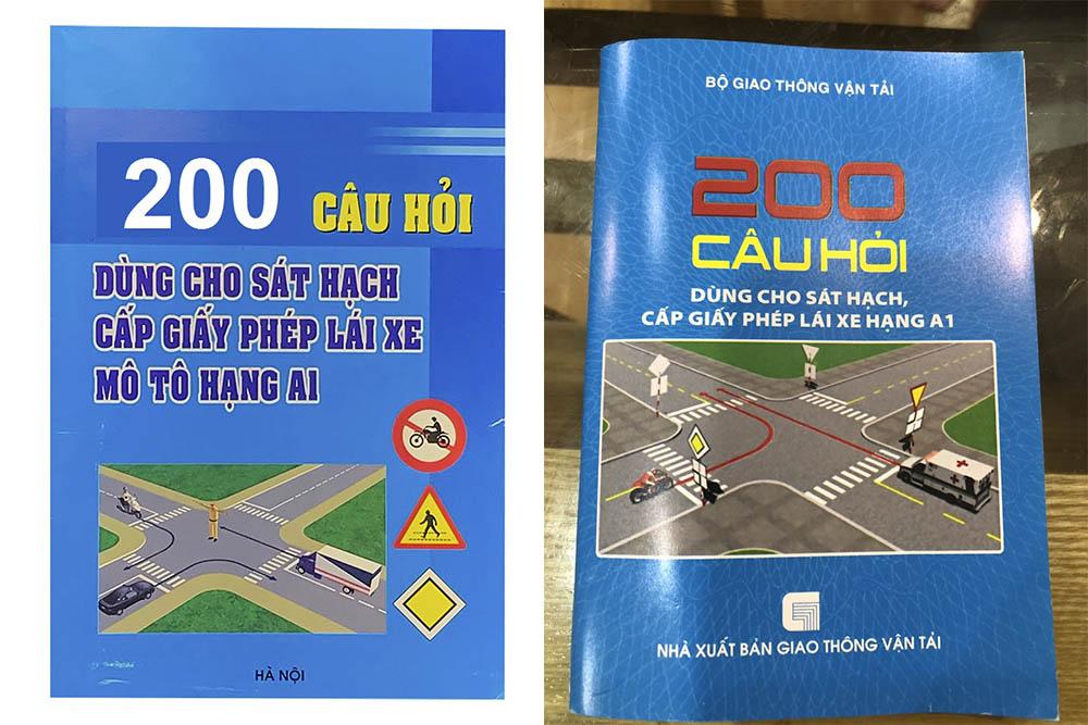 Bộ tài liệu 200 câu hỏi thi bằng lái xe A1