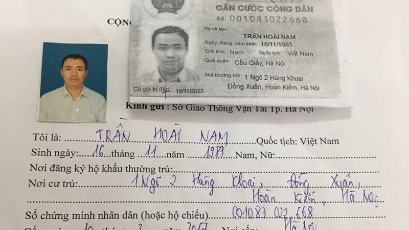 Tên phải viết in hoa khi làm hồ sơ thi bằng lái xe B2