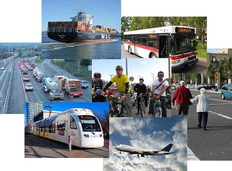 Bài thi có các câu hỏi về khái niệm giao thông