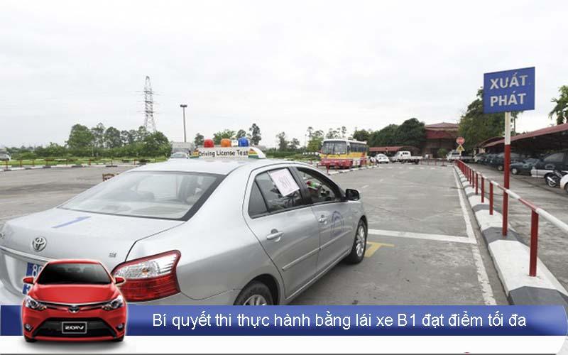 Bí quyết thi bằng lái xe B1 - Bài xuất phát