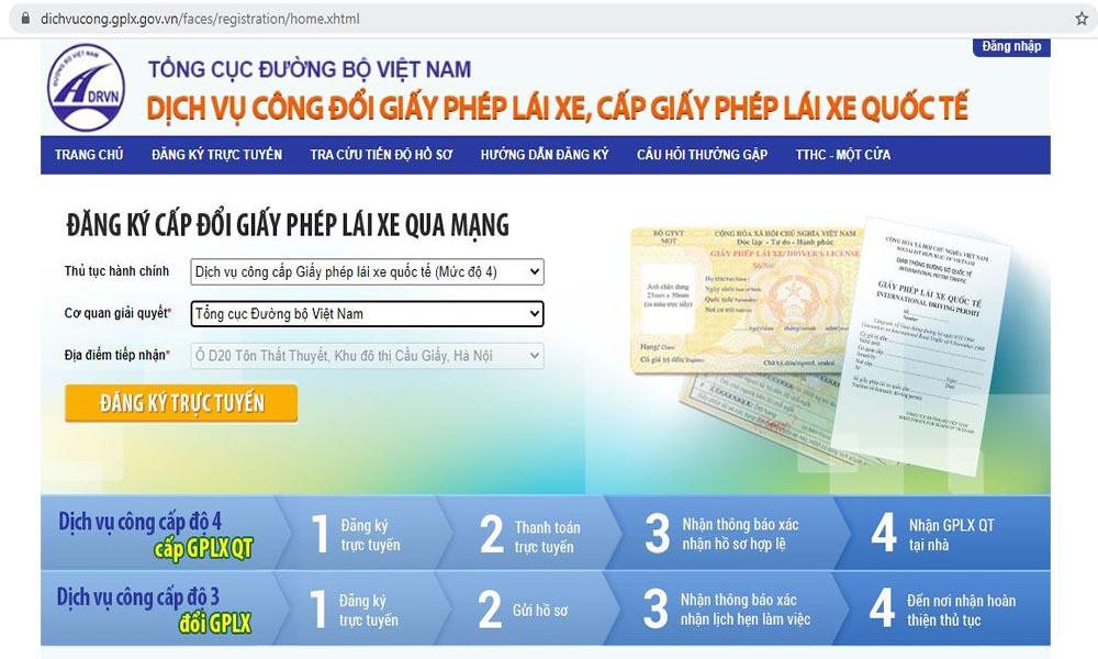 Đổi bằng lái xe B2 Việt Nam sang quốc tế online