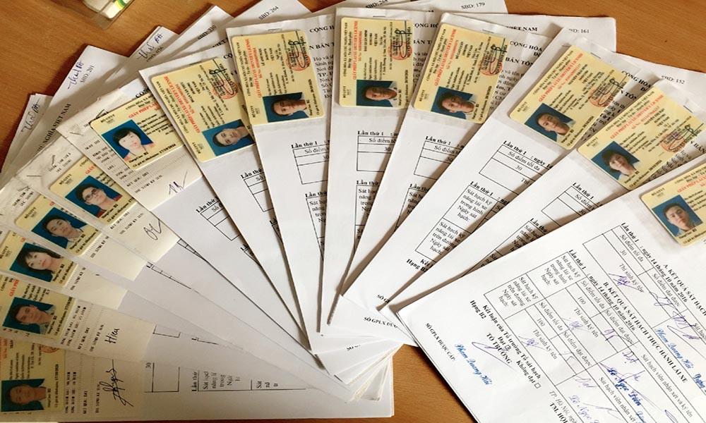 Hồ sơ đăng ký học bằng lái xe B2