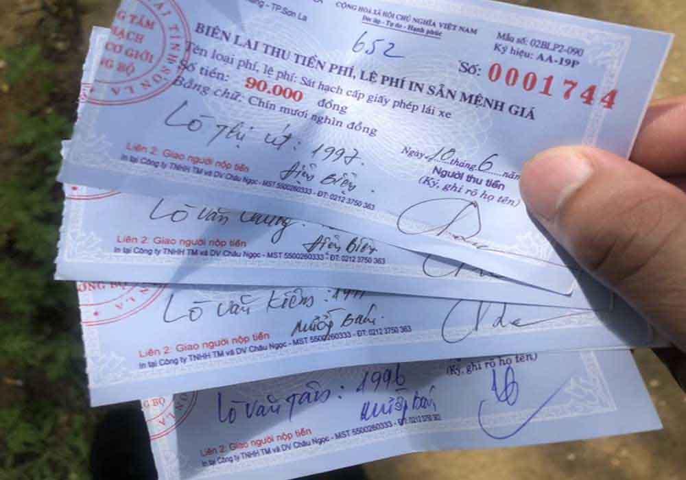 Lệ phí thi bằng lái A1 Kiên Giang