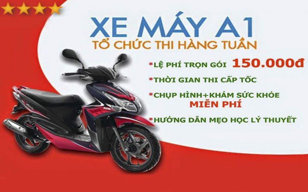 Khóa học bằng lái xe máy A1 chất lượng tại Đà Nẵng