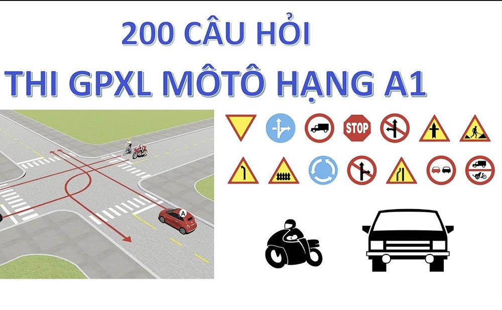 Thi lý thuyết bằng lái xe máy A1