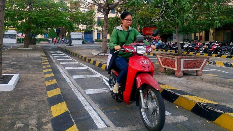 Học thực hành bằng lái xe A1 tại Quảng Nam