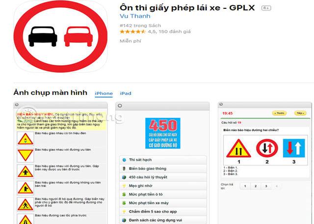Phần mềm ôn thi giấy phép lái xe