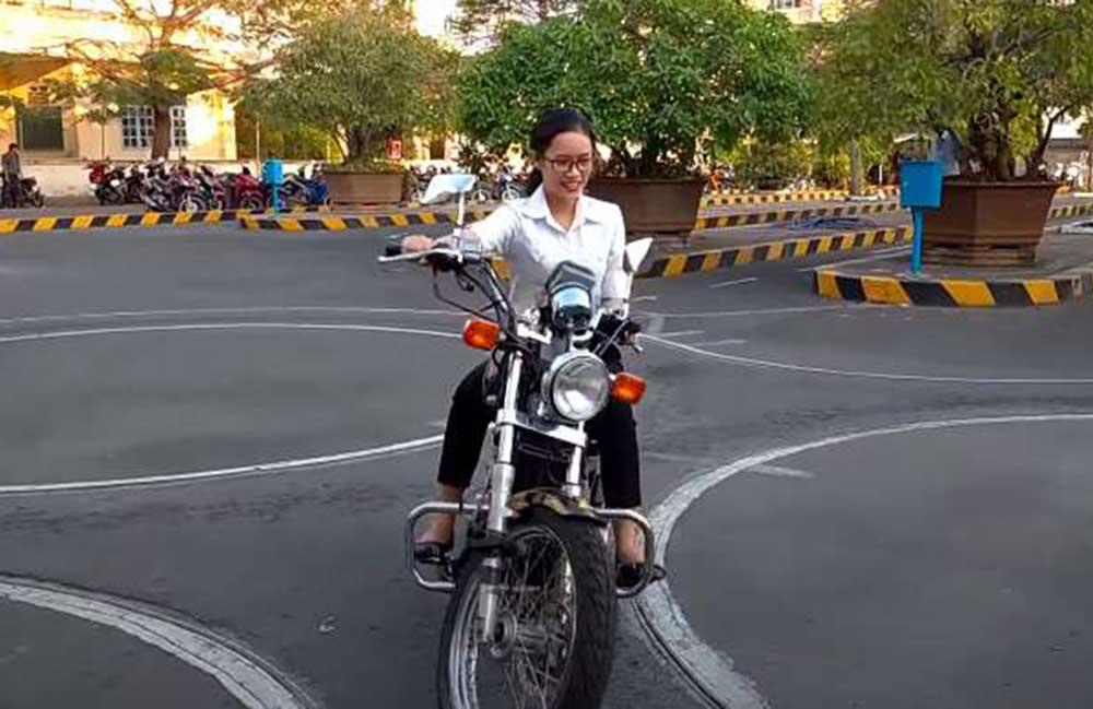Thi bằng lái xe mô tô A2 Tây Ninh